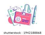 hr manager badge for employee... | Shutterstock .eps vector #1942188868