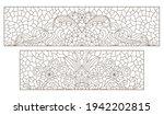 set contour illustrations of... | Shutterstock .eps vector #1942202815