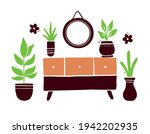 hand drawn set of cute home... | Shutterstock .eps vector #1942202935