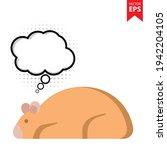 cute cartoon hamster with...