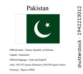 pakistan national flag  country'...   Shutterstock .eps vector #1942213012