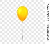 gold balloon 3d  thread ... | Shutterstock .eps vector #1942217992