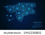 guinea bissau map from point... | Shutterstock .eps vector #1942230802