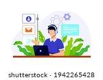 customer support concept....   Shutterstock .eps vector #1942265428