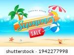 summer sale banner vector...   Shutterstock .eps vector #1942277998
