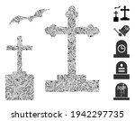 dash mosaic based on cemetery... | Shutterstock .eps vector #1942297735
