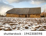 Old Big Shed In Countryside Of...