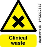 clinical waste sign board... | Shutterstock .eps vector #1942312582