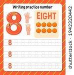 writing practice number 8... | Shutterstock .eps vector #1942320442