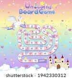 board game for kids in unicorn... | Shutterstock .eps vector #1942330312