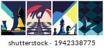 collection of chess posters.... | Shutterstock .eps vector #1942338775