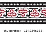 seamless black ikat  border... | Shutterstock .eps vector #1942346188
