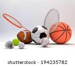 assorted sports equipment...   Shutterstock . vector #194235782