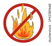 cartoon or doodle style fire... | Shutterstock .eps vector #1942385668