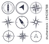 wind rose compass flat vector... | Shutterstock .eps vector #194238788