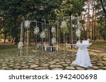 Wedding Ceremony In The Forest. ...