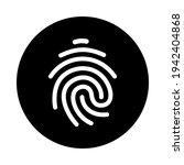 fingerprint vector icon. touch... | Shutterstock .eps vector #1942404868