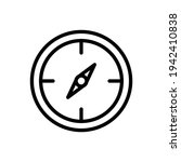 compass icon line style vector...