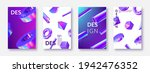 set of card templates with 3d... | Shutterstock .eps vector #1942476352
