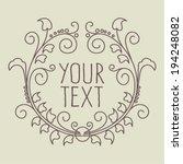 floral frame   vector...   Shutterstock .eps vector #194248082
