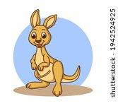 Kangaroo Icon Kids Drawing...