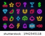 casino icons for slot machine.... | Shutterstock .eps vector #1942545118