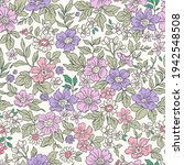 beautiful vintage floral... | Shutterstock .eps vector #1942548508
