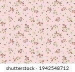 cute seamless vector floral... | Shutterstock .eps vector #1942548712