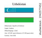 uzbekistan national flag ...   Shutterstock .eps vector #1942577452