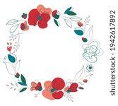 Meadow Wild Poppy Floral Wreath....