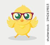 Yellow Easter Chick In Glasses...