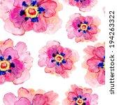 pink peonies seamless pattern | Shutterstock . vector #194263322