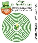 happy st patrick's day maze... | Shutterstock .eps vector #1942634728
