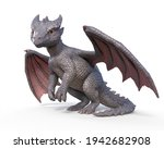 Dragon Baby Standing Isolated...