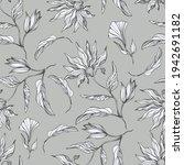 flowers. tropical plants.... | Shutterstock .eps vector #1942691182