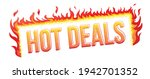 ''hot deals'' phrase with the... | Shutterstock .eps vector #1942701352