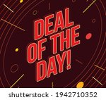 ''deal of the day'' inscription ... | Shutterstock .eps vector #1942710352
