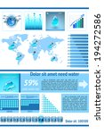 water infographics. information ...