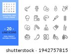 line icons about food allergens....   Shutterstock .eps vector #1942757815