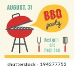 bbq party. barbeque and grill... | Shutterstock .eps vector #194277752