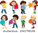 set of different children... | Shutterstock .eps vector #1942798198