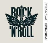 rock 'n' roll   vector banner ... | Shutterstock .eps vector #1942799218