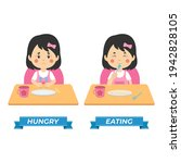 stock vector kids hungry and... | Shutterstock .eps vector #1942828105