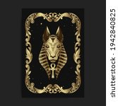 the egyptian god seth or anubis ... | Shutterstock .eps vector #1942840825