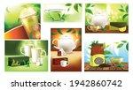 tea drink promo advertising...   Shutterstock .eps vector #1942860742