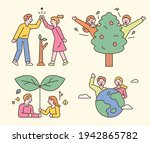 people who protect the... | Shutterstock .eps vector #1942865782