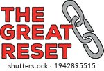 the phrase the great reset with ... | Shutterstock .eps vector #1942895515