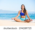 happy relaxed young woman... | Shutterstock . vector #194289725