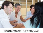 business people smile and chat... | Shutterstock . vector #194289962