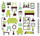 set of living room furniture... | Shutterstock .eps vector #1942905838
